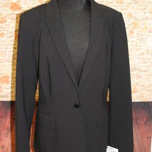 Calvin Klein Black Office One Button Blazer Jacket